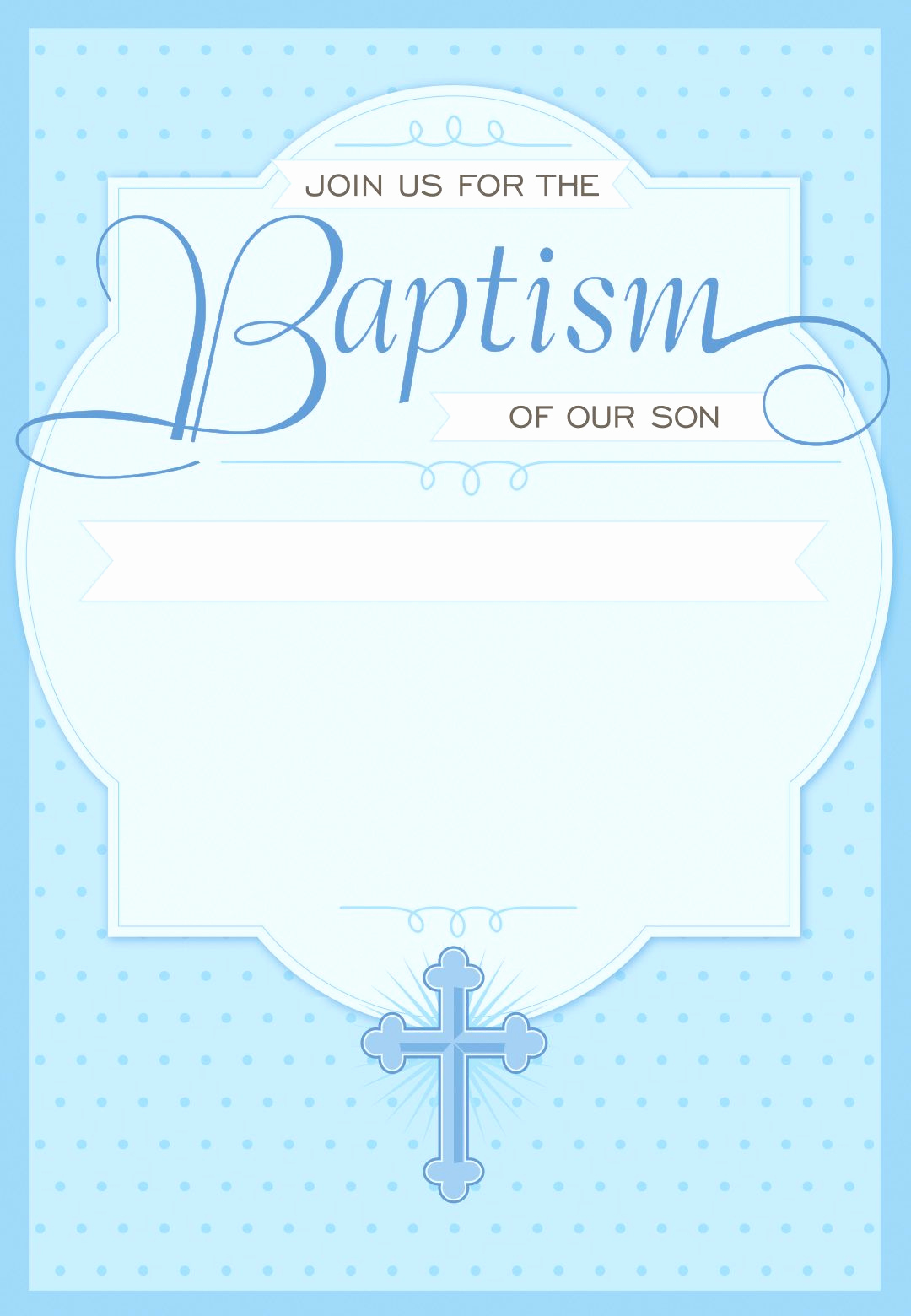 Free Christening Invitation Templates New Dotted Blue Free Printable Baptism & Christening