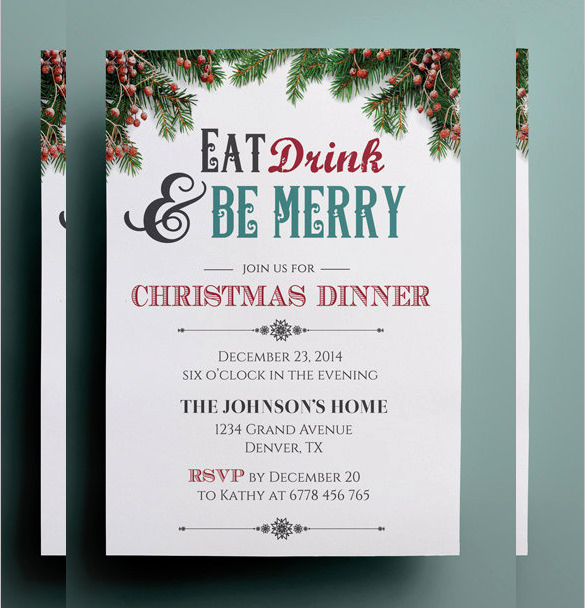 Free Christmas Invitation Templates Awesome 32 Christmas Invitation Templates Psd Ai Word