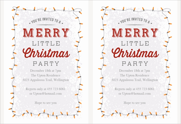Free Christmas Invitation Templates Beautiful 32 Christmas Party Invitation Templates Psd Vector Ai