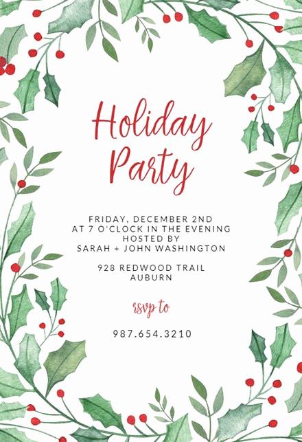 Free Christmas Invitation Templates Beautiful Christmas Party Invitation Templates Free