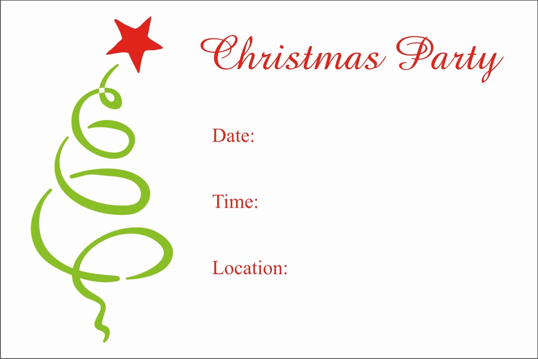 Free Christmas Invitation Templates Elegant Christmas Party Free Printable Holiday Invitation