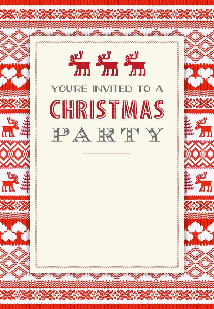Free Christmas Invitation Templates Elegant Sweaters Pattern Free Printable Christmas Invitation