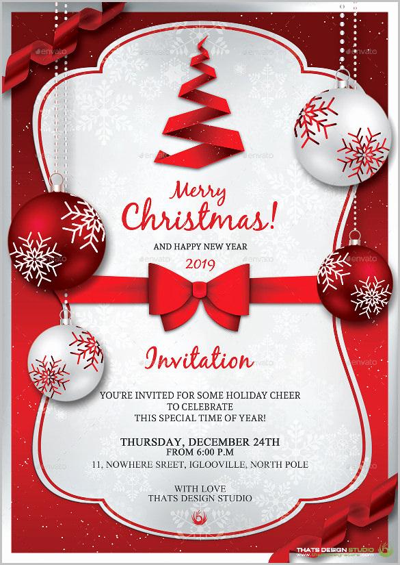 Free Christmas Invitation Templates Inspirational Christmas Invitation Template – 26 Free Psd Eps Vector