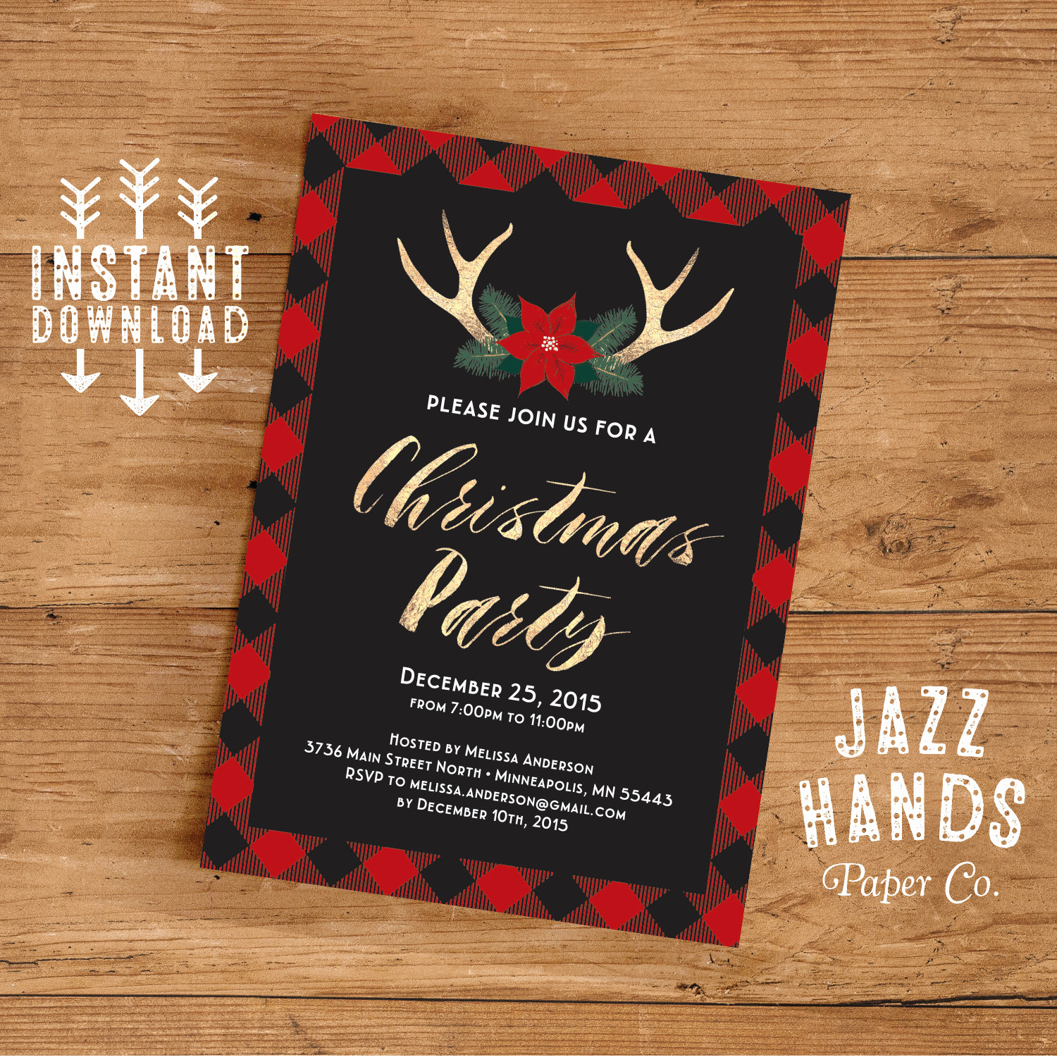 Free Christmas Invitation Templates Lovely Christmas Party Invitation Template Diy Printable Holiday
