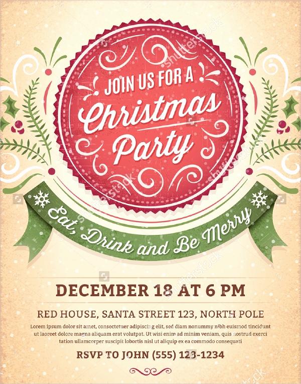 Free Christmas Invitation Templates Luxury 32 Christmas Party Invitation Templates Psd Vector Ai