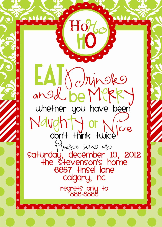 Free Christmas Invitation Templates Luxury Christmas Party Invitations Templates Free Printables