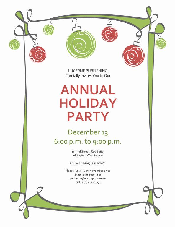 Free Christmas Invitation Templates Luxury Free Printable Christmas Invitations Template