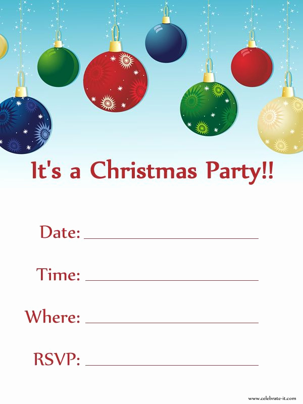 Free Christmas Invitation Templates New Christmas Party Invitation Free Download