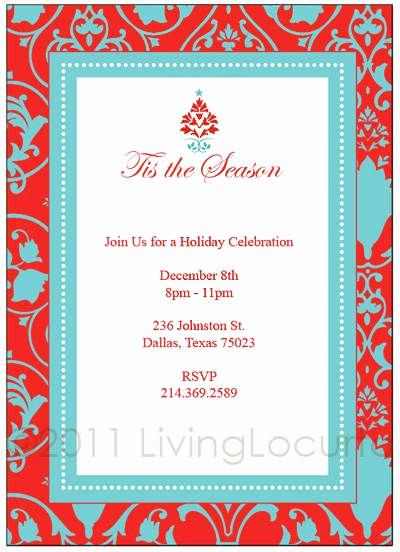 Free Christmas Invitation Templates Unique Pin On Invites