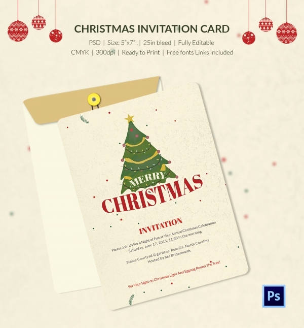 Free Christmas Invitation Templates Word Best Of 25 Christmas Invitation Templates Psd Eps Vector Ai
