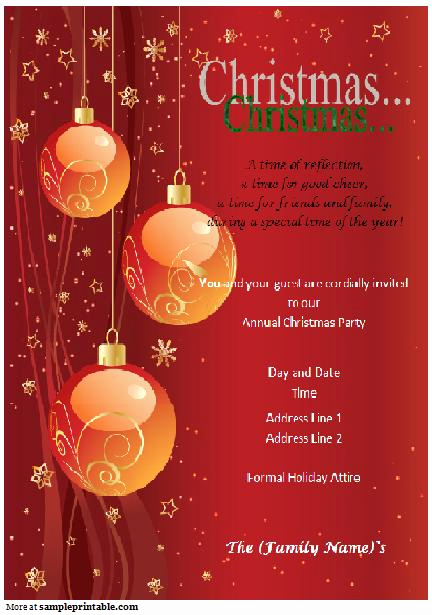 Free Christmas Invitation Templates Word Fresh Christmas Party Invitation Printable Christmas Party