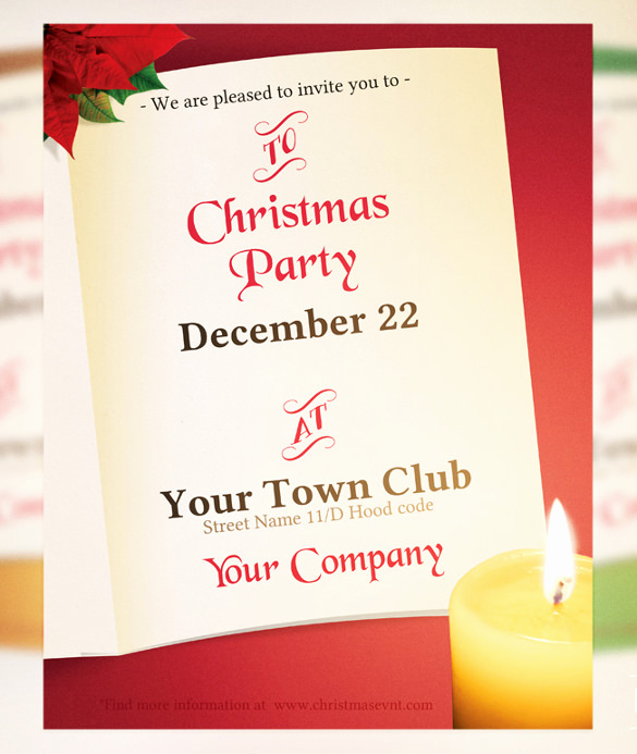 Free Christmas Invitation Templates Word Luxury Free Word Templates