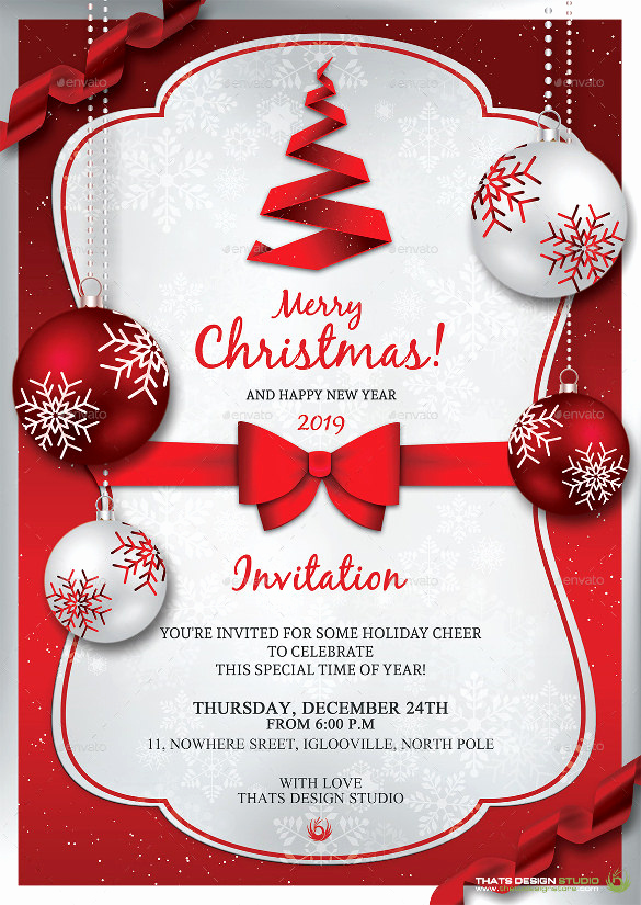 Free Christmas Party Invitation Templates Awesome 32 Christmas Invitation Templates Psd Ai Word
