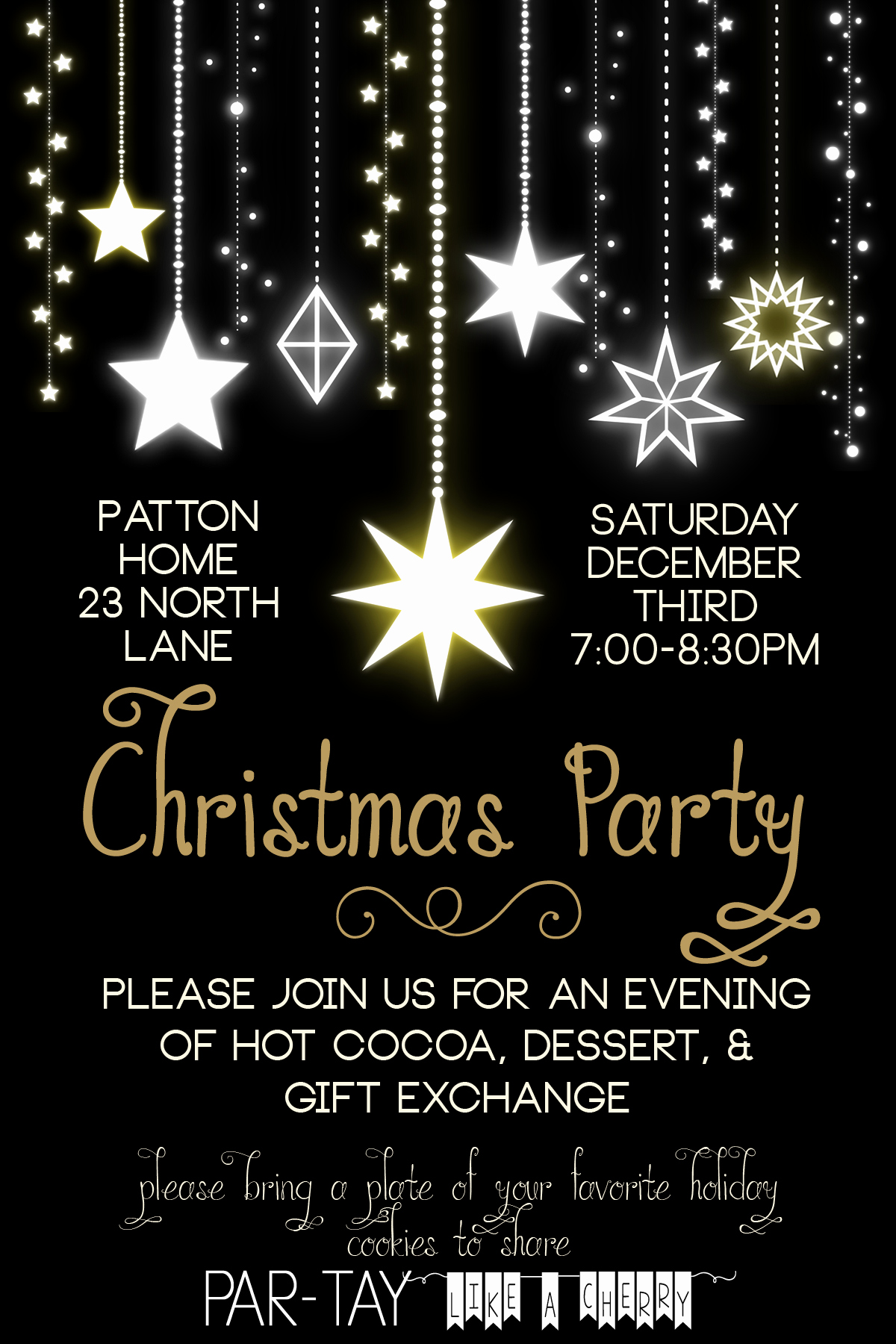 Free Christmas Party Invitation Templates Elegant Free Christmas Party Invitation Party Like A Cherry