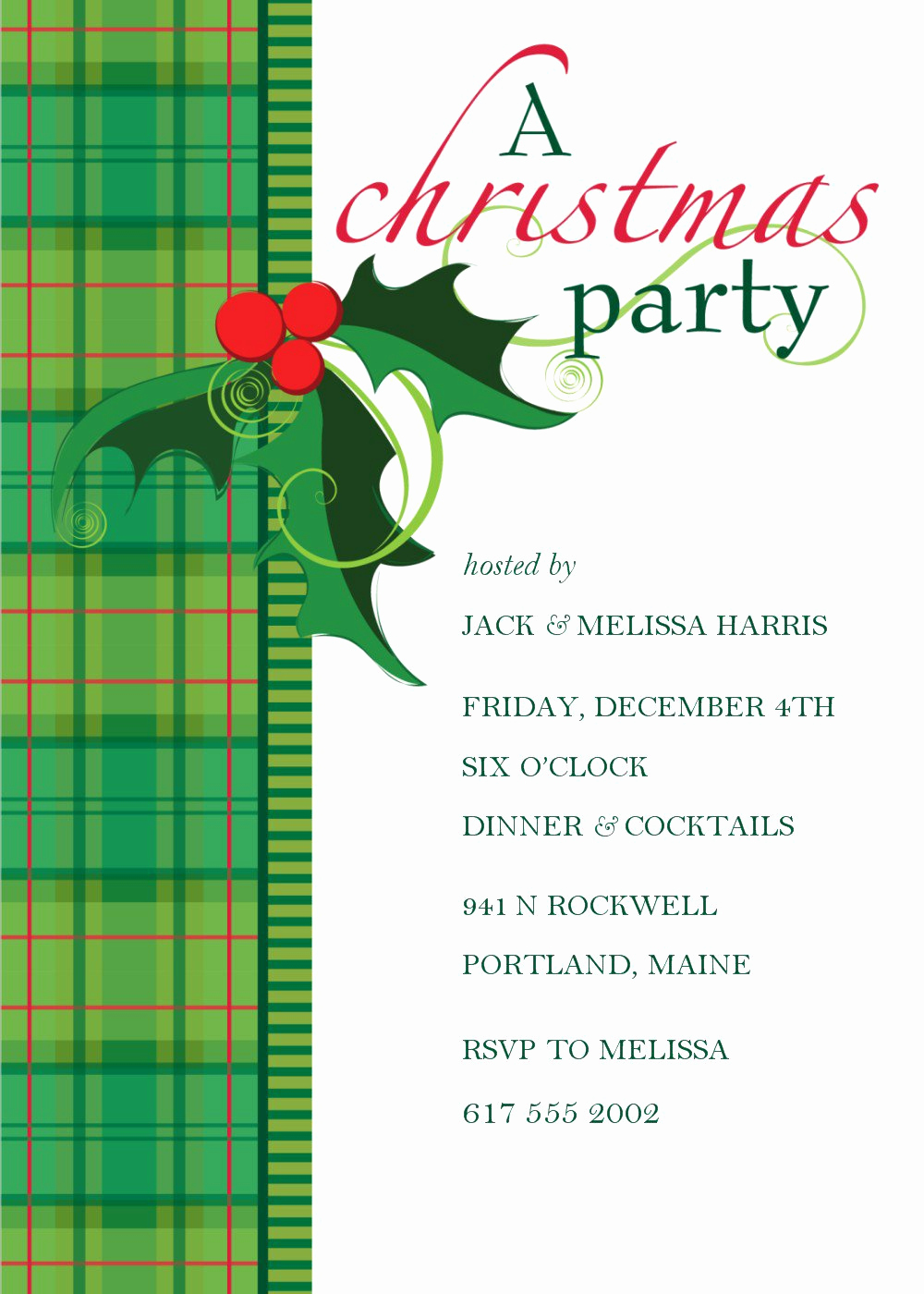 Free Christmas Party Invitation Templates Fresh Dinner Invitation Templates Free