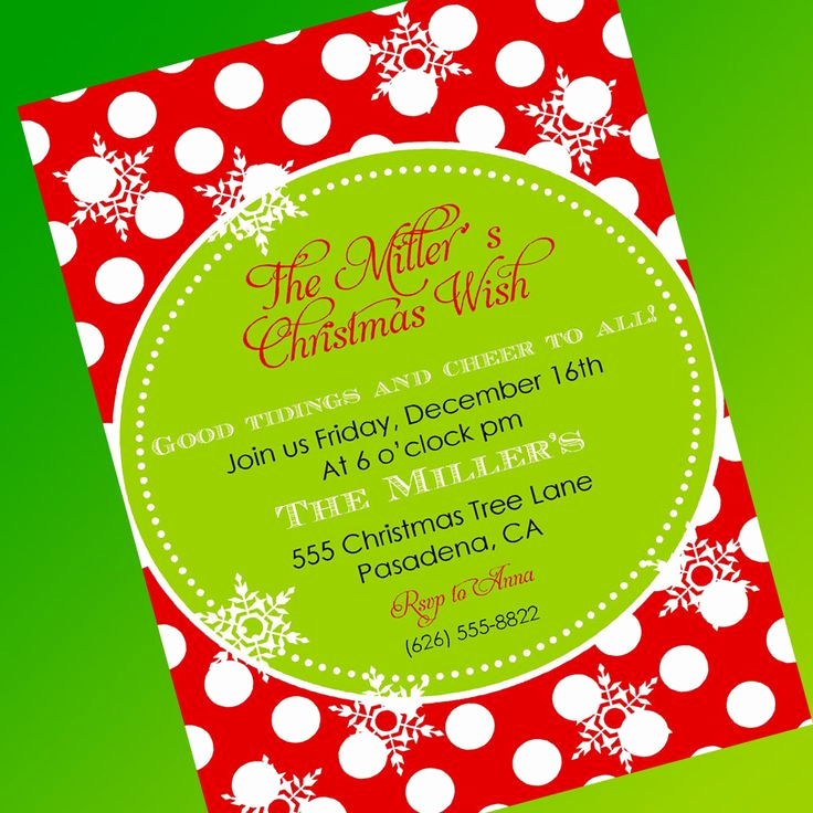 Free Christmas Party Invitation Templates Inspirational Free Christmas Party Invitation Template