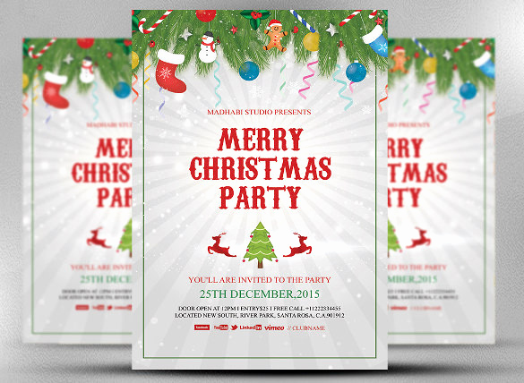 Free Christmas Party Invitation Templates Luxury 32 Christmas Invitation Templates Psd Ai Word