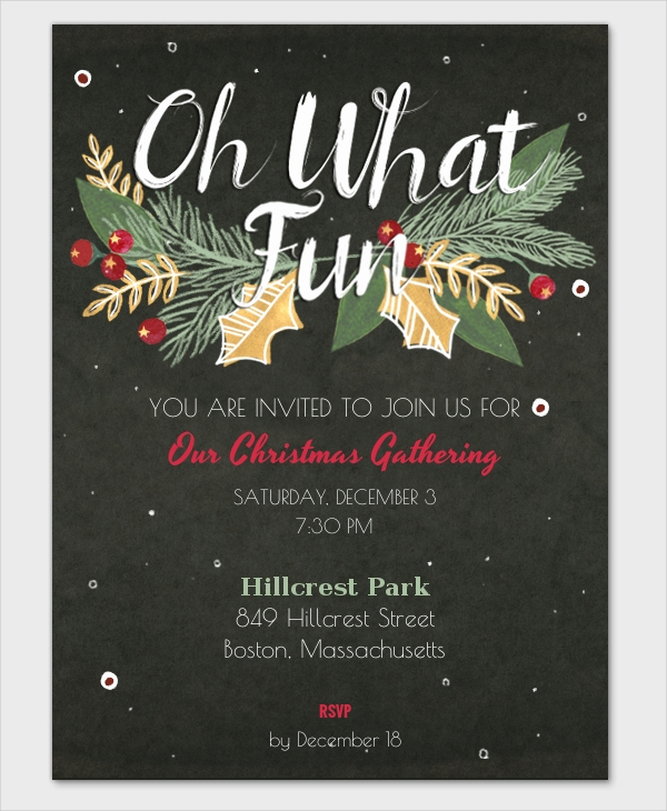 Free Christmas Party Invitation Templates Luxury 32 Christmas Party Invitation Templates Psd Vector Ai