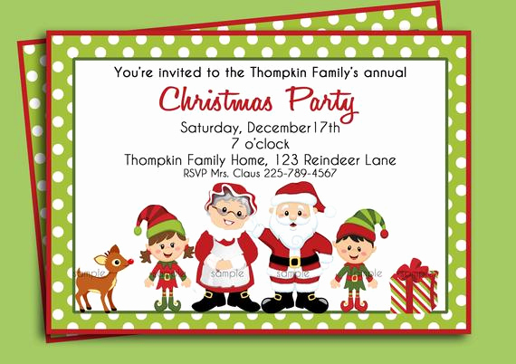 Free Christmas Party Invitation Templates New Christmas Party Invitation Printable or Printed with Free