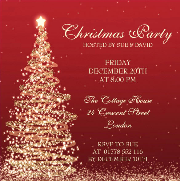 Free Christmas Party Invitation Templates Unique Christmas Invitation Template – 26 Free Psd Eps Vector