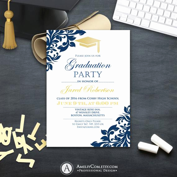 Free College Graduation Invitation Templates Luxury Graduation Party Invitation Сollege Printable Template Boy