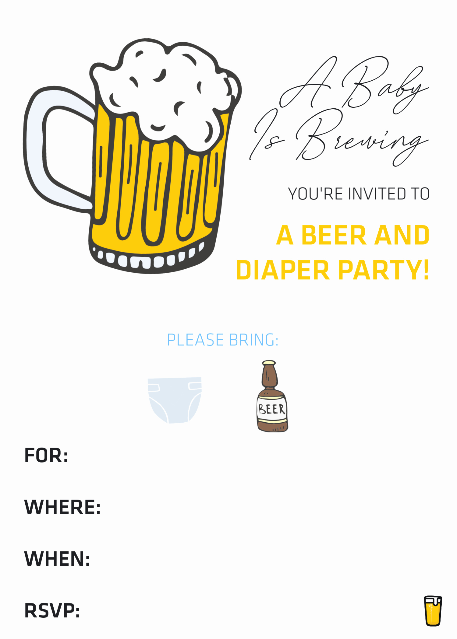 Free Diaper Party Invitation Templates Best Of How to Throw A Beer & Diaper Party – the Best Dad Baby