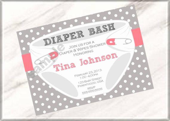 Free Diaper Party Invitation Templates Elegant Diaper Party Invitation Wording