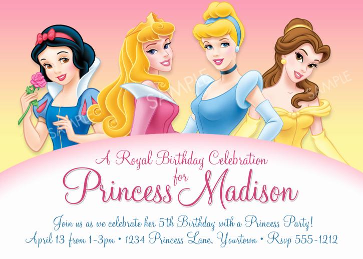 Free Disney Princess Invitation Template Luxury Disney Princess for Girl Birthday Invitations Ideas – Free