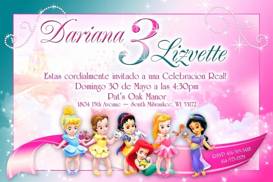 Free Disney Princess Invitation Template Luxury Free Disney Princess Invitation Cards Template