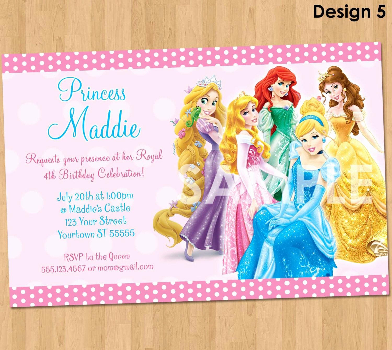 Free Disney Princess Invitation Template Luxury Princess Invitation Disney Princess Invitation Birthday