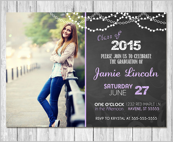 Free Download Graduation Invitation Templates Beautiful 25 Graduation Invitation Templates Psd Vector Eps Ai