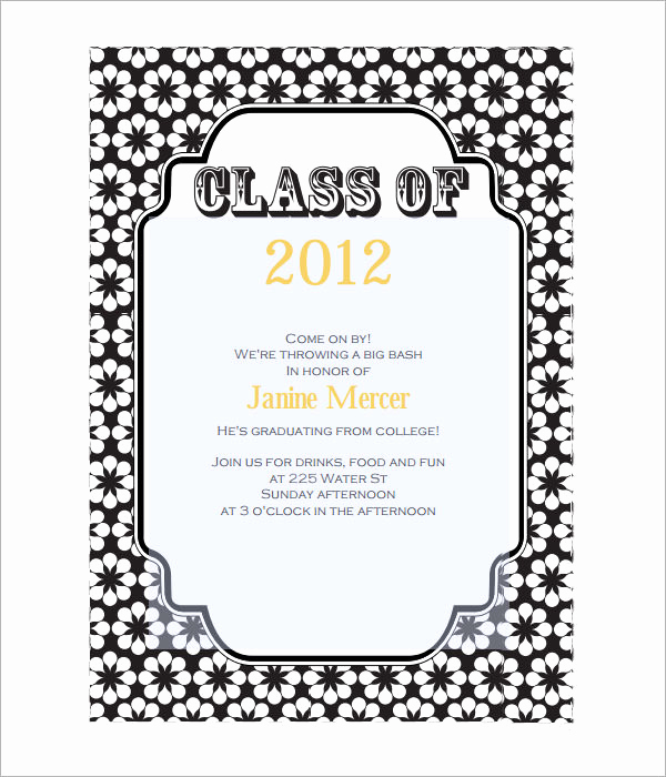 Free Download Graduation Invitation Templates Beautiful 7 Graduation Invitation Templates
