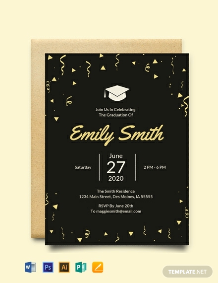 Free Download Graduation Invitation Templates Elegant Free Graduation Invitation Template Download 884
