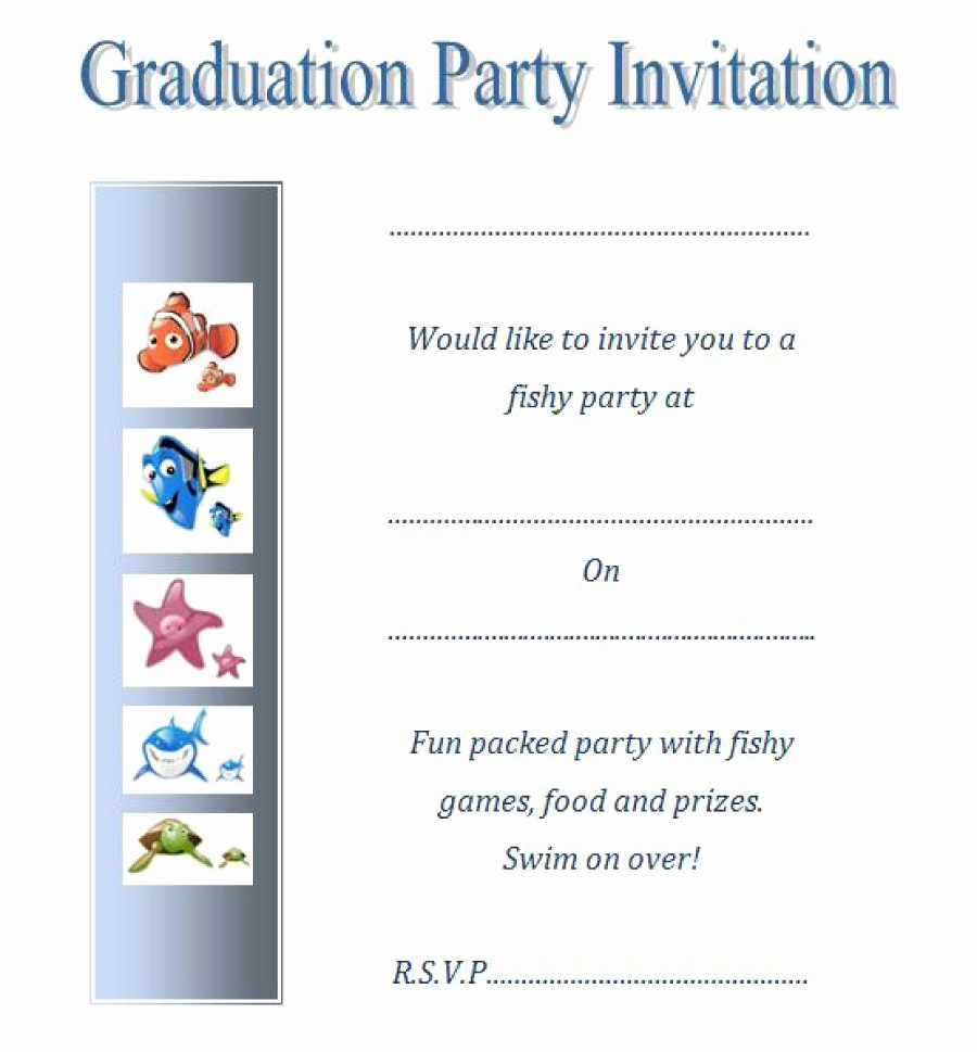 Free Download Graduation Invitation Templates Fresh 40 Free Graduation Invitation Templates Template Lab