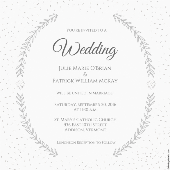 Free Downloadable Wedding Invitation Templates Beautiful Wedding Invitation Template 71 Free Printable Word Pdf