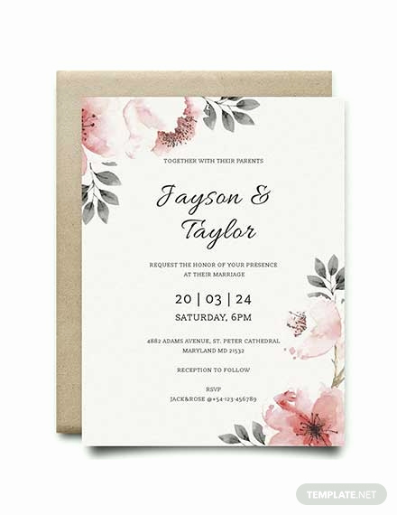 Free Downloadable Wedding Invitation Templates Inspirational Free Blank Wedding Invitation Template Download 344