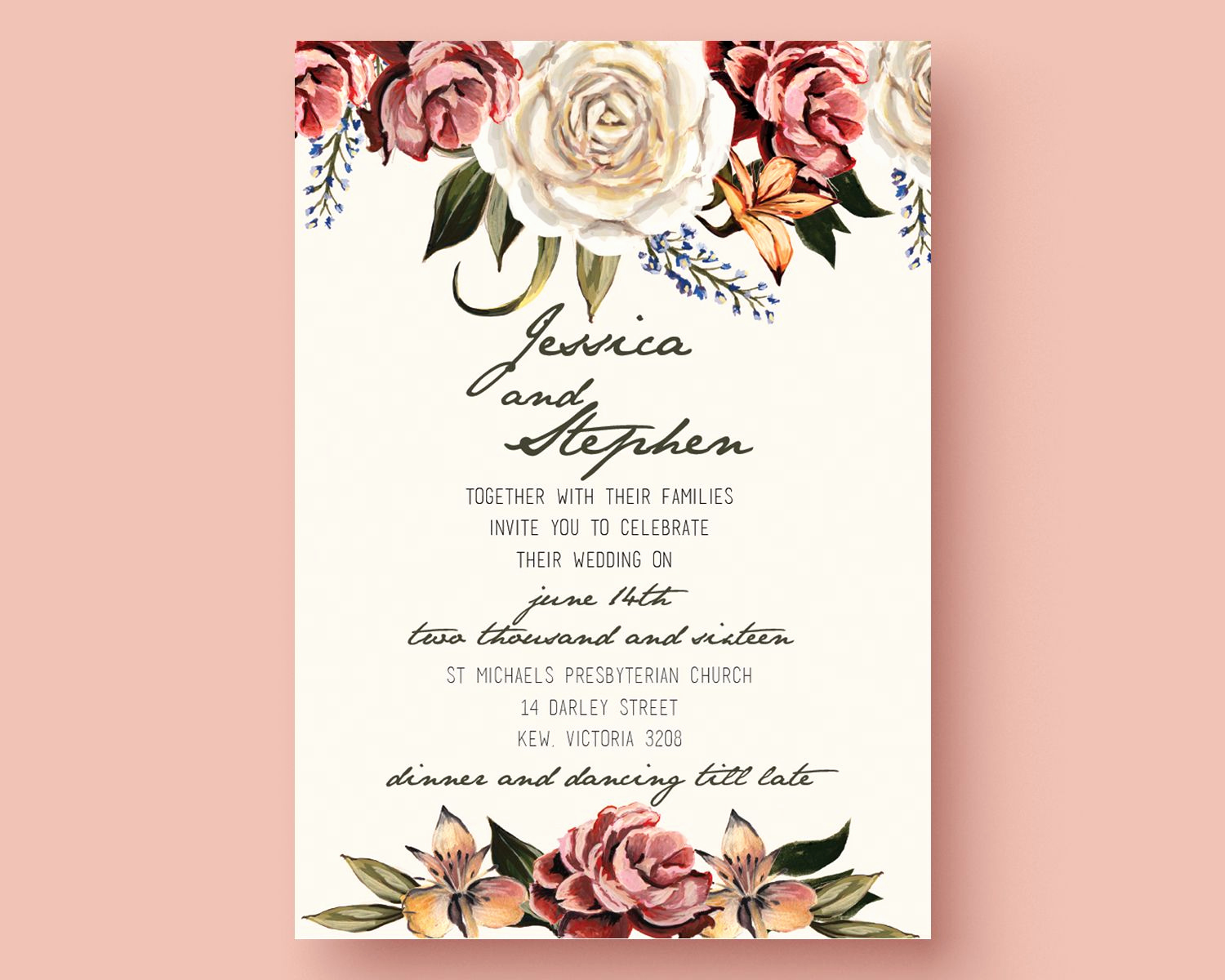 Free Downloadable Wedding Invitation Templates Luxury Get the Template Free This is An Adobe