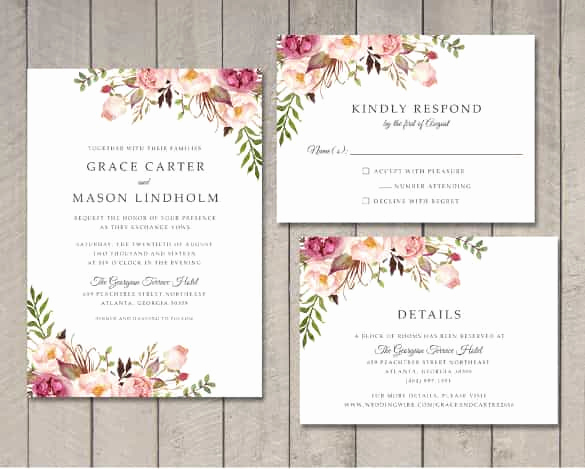 Free Downloadable Wedding Invitation Templates New 85 Wedding Invitation Templates Psd Ai