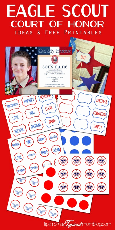 Free Eagle Scout Invitation Template Awesome Eagle Scout Court Of Honor Ideas and Free Printables