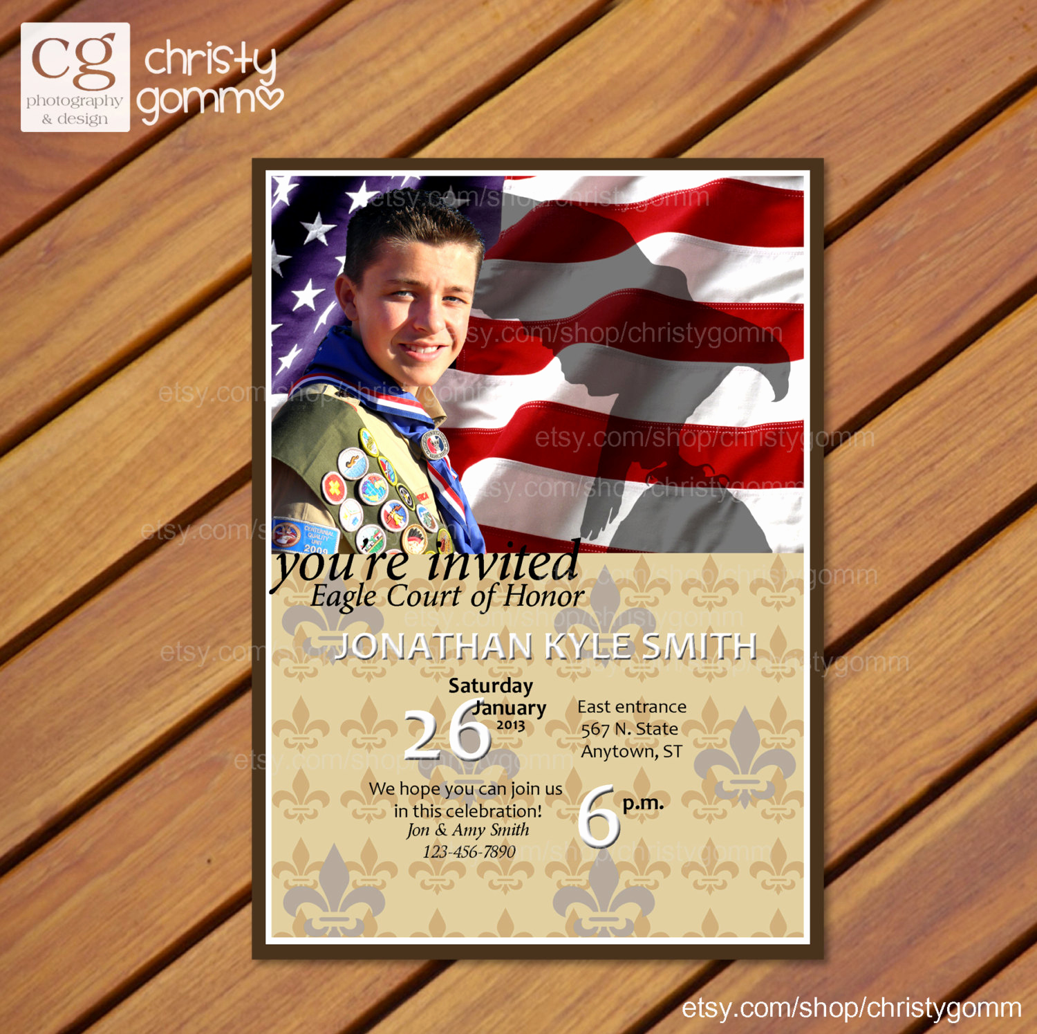 Free Eagle Scout Invitation Template Awesome Eagle Scout Court Of Honor Invitation Card Boy by Christygomm