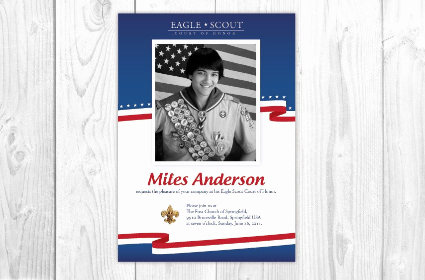 Free Eagle Scout Invitation Template Awesome Eagle Scout Invitations Card Red White by