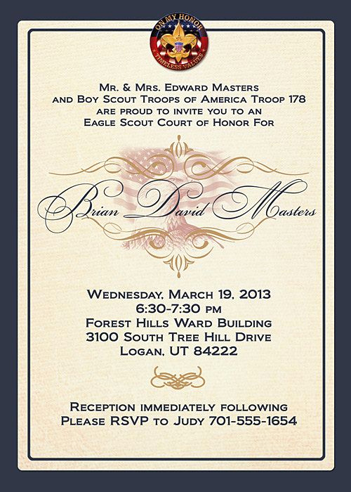 Free Eagle Scout Invitation Template Beautiful 68 Best Images About Scouts Eagle Scout Invitations On