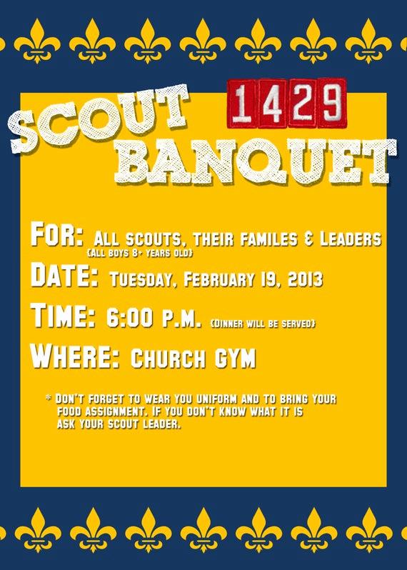 Free Eagle Scout Invitation Template Beautiful Boy Scout or Cub Scout Invitation Card 5x7 Psd Template