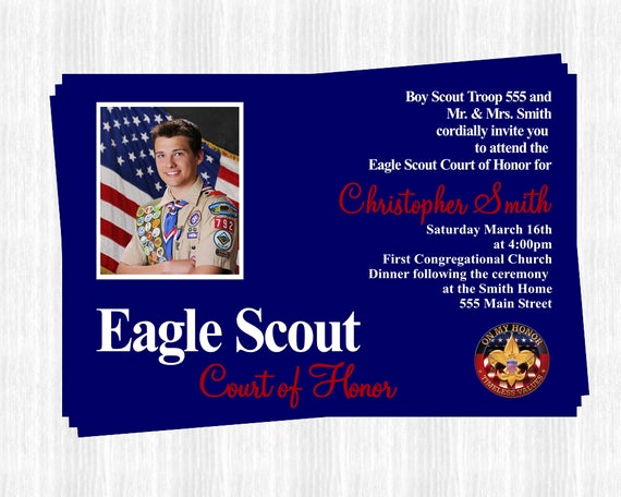 Free Eagle Scout Invitation Template Beautiful Etsy Your Place to and Sell All Things Handmade