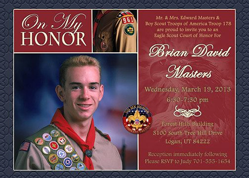 Free Eagle Scout Invitation Template Best Of 10 Images About Scouts Eagle Scout Invitations On