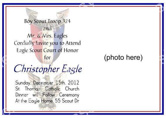 Free Eagle Scout Invitation Template Elegant Eagle Scout Court Of Honor Invitation by Bluegrasswhimsy
