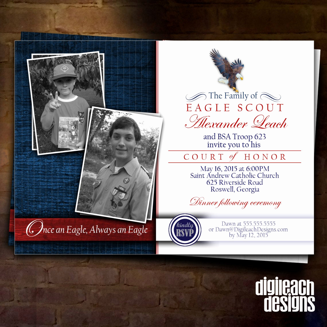 Free Eagle Scout Invitation Template Elegant Eagle Scout Court Of Honor Invitation Eagle Family then and