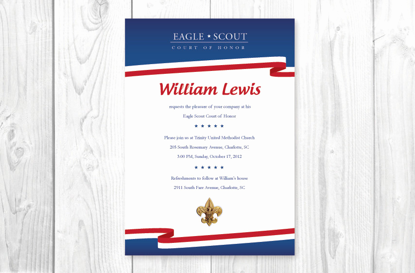 Free Eagle Scout Invitation Template Elegant Eagle Scout Court Of Honor Invitations Card by