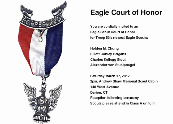 Free Eagle Scout Invitation Template Fresh Eagle Ceremony Invitation Template