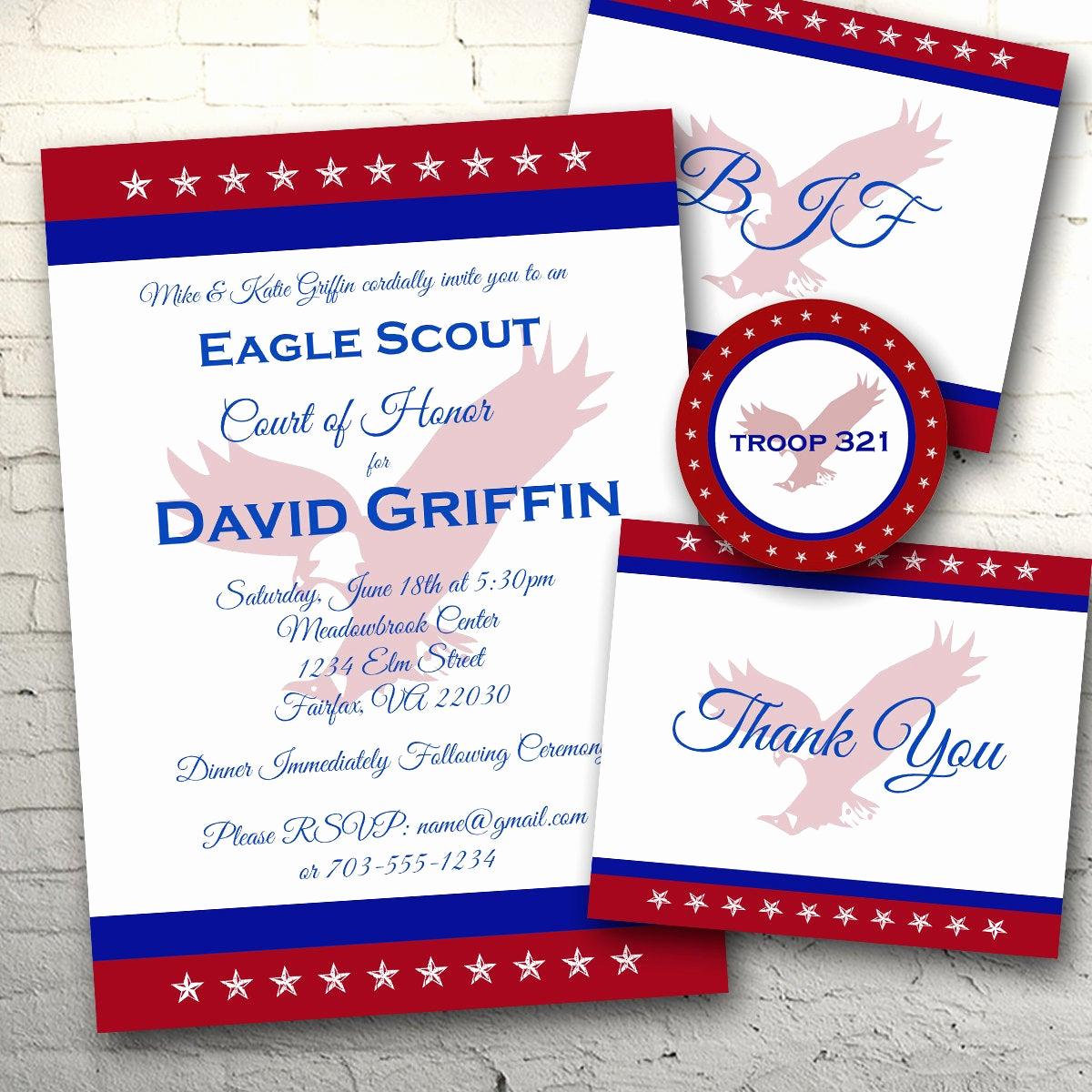 Free Eagle Scout Invitation Template Fresh Tri Color Eagle Scout Invitation